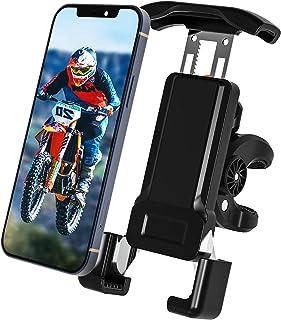 摩托车 ATV UTV 自行车 滑板车 Stoller 高尔夫 购物车 车把 山地自行车 手机支架 适用于所有智能手机 [ *坚固 & 单手 ]
