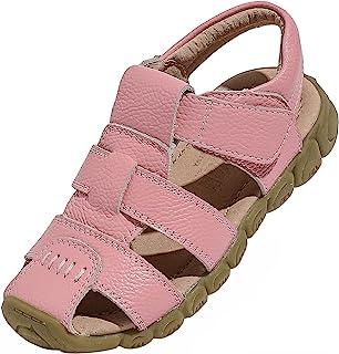 DADAWEN 男孩女孩皮革闭趾户外运动凉鞋(幼儿/小童/大童)