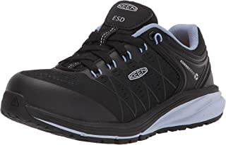 KEEN Utility 女式 Vista 能量低帮运动鞋复合鞋头 ESD 工作鞋结构