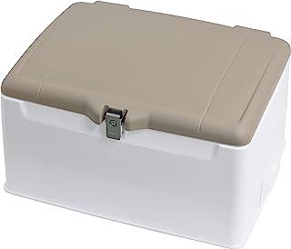 旭风挡 后箱 集配用脚轮 带盖子 110-148L 大容量收纳 锅盖垫磨砂棕 近似色/本体白 AB-5BR