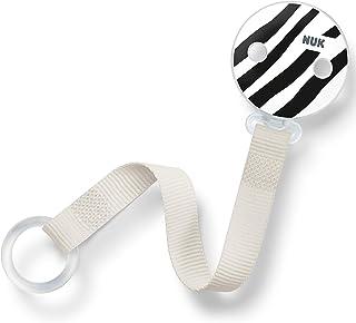 NUK 奶嘴链 | 适用于所有带或不带环 | 单色动物(黑色和白色)