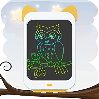 Zotarry LCD 书写平板电脑 10 英寸彩色屏幕幼儿学习玩具 适合 3 4 5 6 7 8 岁男孩和女孩,可擦除便携式儿童绘画和涂鸦板