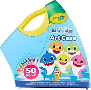 Crayola 绘儿乐 鲨鱼宝宝艺术套装 50 件 儿童礼品 3 4 5 6 7