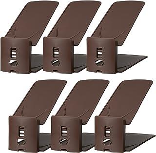 Like-it 靴ホルダー 高さ調節機能付き 6個入り 棕色