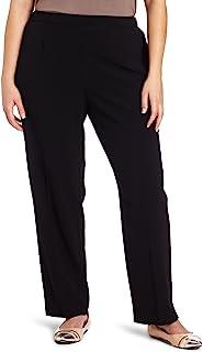 Briggs New York 女式加大码*舒适长裤 黑色//白色 24 Short