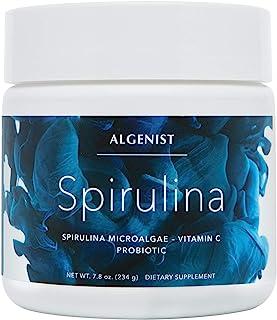Algenist Spirulina(总共)补充剂 - Beauty & Digestive Health Powder 含*,*食品,透明质酸和B12(30份/8.25盎司)