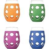 Lifefactory 11 oz. White Wine Glasses, Small, Multicolor, (P…
