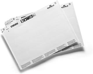 耐用的可插入标签标签替换白色,适用于200x30毫米格式的物品,80个标签,如SCANFIX、C-Profile 或 LABELFIX