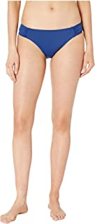 LAUREN RALPH LAUREN 女式沙滩俱乐部纯色抽褶侧袢低腰泳裤 靛蓝色 6