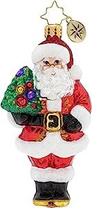 Christopher Radko 手工制作的欧洲玻璃圣诞装饰全尺寸人物装饰品 Nordmann Fir Santa AWKEu320oIQWz