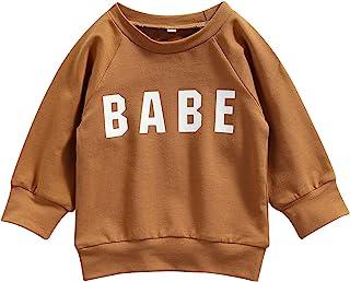 婴幼儿女童连帽衫服装妈妈迷你字母运动衫休闲连帽衬衫套头毛衣上衣