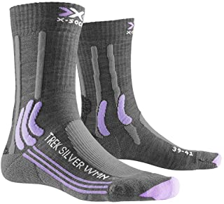 X-Socks 女士 Trek Silver 女士袜子徒步袜 徒步袜 女士袜子袜