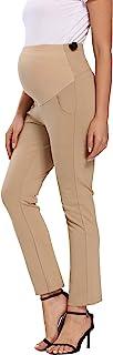 Foucome 女士孕妇靴型弹力职业装裤工作办公室宽松裤