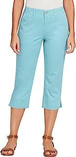 Gloria Vanderbilt 女式七分裤侧开叉袖口长裤 Seaspray 10