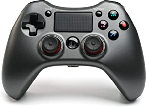 PS4 Controller Wireless Bluetooth Gamepad, [Upgraded Version] Touch Panel Gamepad USB Cable with Dual Vibration and Audio ...