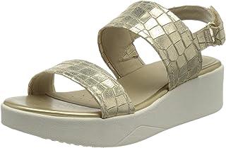 Geox 健乐士 D Laudara C 女士坡跟凉鞋