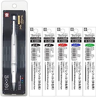 樱花彩色笔 多功能笔 Ballsign Premium 4+1 替芯套装 高级银 替换芯套装 A