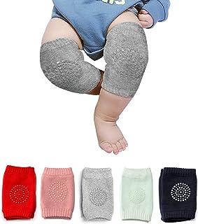 婴儿爬行垫防滑膝盖保护婴儿膝盖*护膝适用于儿童中性款婴儿幼儿膝垫 5 对