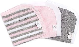 Burt's Bees Baby 3 Piece Washcloths 100% Organic Cotton, Multi Stripe Blossom