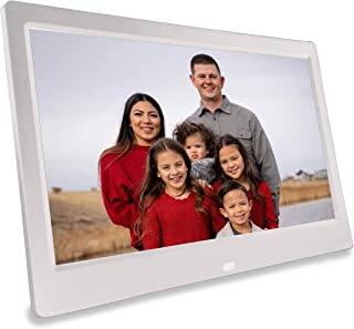 Phone2Frame 10 英寸(约 25.4 厘米)数字相框白色,无WiFi,无账户,使用照片备用棒从手机或电脑到框架 (256GB)