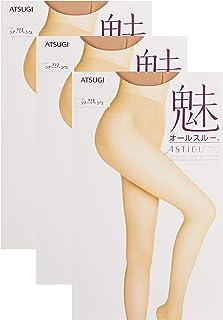 ATSUGI 厚木 女士 丝袜 长筒袜 ASTIGU 魅系列 素肌感 All Through 3双装