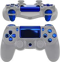 eXtremeRate 替换 D-pad R1 L1 R2 L2 触发器触摸板动作家庭共享选项按钮,铬蓝色全套装按钮维修套件,带工具,适用于 PlayStation 4 PS4 Slim PS4 Pro CUH-ZCT2 控制器