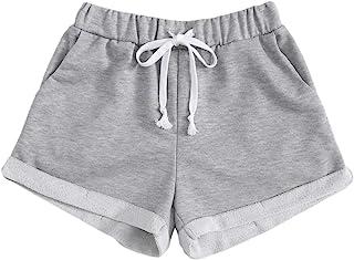 SOLY HUX 女式休闲弹性高腰跑步训练短裤