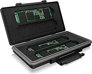 ICY BOX 保护盒 适用于 4X 2280 M.2 SSD。保护卡免受潮湿、灰尘和碰撞。 防震存储携带保护套(不含固态硬盘)