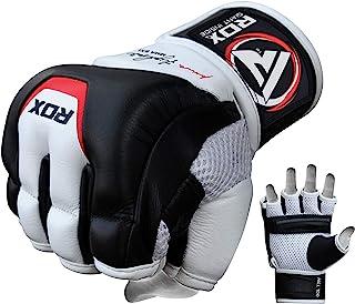 RDX MMA 手套拳击武术格斗牛皮训练 UFC Cage 战斗凝胶手套拳击袋凝胶手套