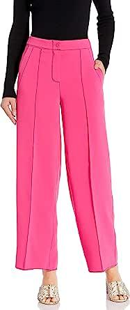 A|X Armani Exchange 女式宽腿裤,撞色缝线颜色