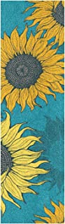 BECCI 黄色向日葵滑板防滑胶带砂纸无气泡易粘附长板防滑防撕裂滑板抓带 23.1 厘米 x 84.1 厘米