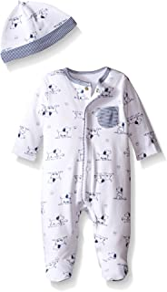 Little Me Baby Boys' Puppy Toile Footie with Hat