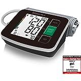 MEDISANA马德保康BU516无线上臂血压计,显示心率,黑色,带集成袖套,世卫组织推荐的交通灯标识,可存储信息
