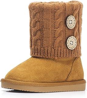 女孩 Fax-Fur 雪地靴防滑保暖鞋,适合大/小孩