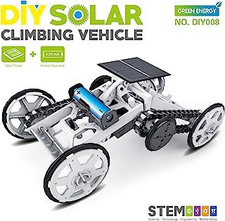 STEM 4WD 汽车 DIY 攀岩车辆汽车教育太阳能汽车工程车,儿童礼品玩具电路建设项目科学实验,建筑玩具