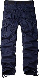 TRGPSG 女式休闲战斗工装裤,棉质户外迷彩军装多口袋工作裤