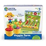 Learning Resources 蔬菜农场分类套装,过家家游戏食品,46件,3岁以上