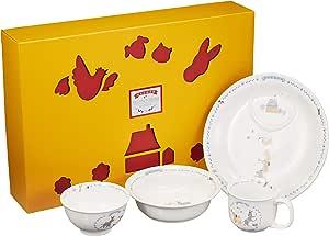 Narumi 鸣海 Bremen系列 儿童餐具套装 蓝色 套装 微波炉烤箱可用 日本制 7980-33139