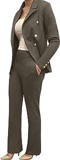 OrlyCollection by Obadiah 系列女式正装裤靴型裤女式宽松舒适靴型弹力裤