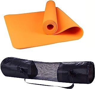 Polly House 环保 * TPE 高*运动瑜伽垫,超厚 8 毫米,免费优质手提包,出色的衬垫,防滑轻便,尺寸 182.88 厘米 X 60.96 厘米