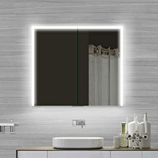 Lux-aqua SMC8070DP 浴室柜,铝,银色/镜面,800x700x120毫米
