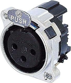Neutrik NC3FBH1 XLR 电路 B 系列 ( 接地触点 Pin 1 和底盘)