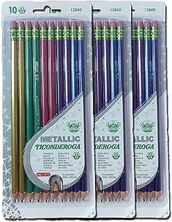 Dixon Ticonderoga 金属木头 2 号 2HB 铅笔,预磨,30 包,13860