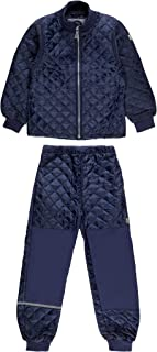 MIKK-Line - 麦尔登儿童婴儿保暖上衣和裤子保暖套装,防水防风