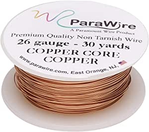 ParaWire 铜工艺线 26 号 30 码(约 26.2 米) 带透明保护涂层