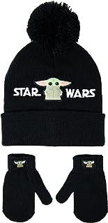 Star Wars 女童儿童帽子和手套套装 黑色