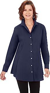 Foxcroft 女式 Ls 弹力束腰上衣