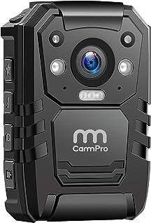 1296P 高清警察身体摄像头,32G 内存,CammPro 高级便携式身体摄像头,防水机身摄像头,带 2 英寸显示屏,夜视,执法录音机的 GPS *防护,个人使用