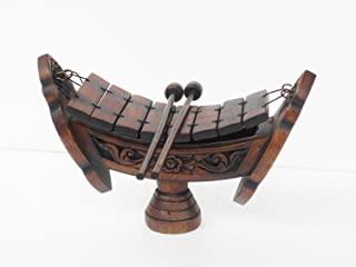 泰国柚木泰国传统乐器 柚木柚木木木木木木木琴 8 条音符,英寸 Wood040