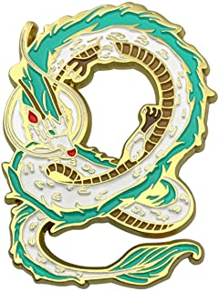 CUFTS Dragon Haku 动漫珐琅别针 来自Spirited Away,可爱的珠宝圣诞生日礼物